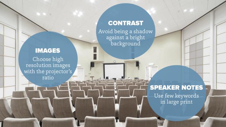 Tips for making slides for keynote presentations