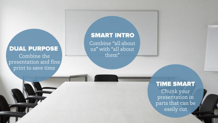 Tips for making slides for formal presentations