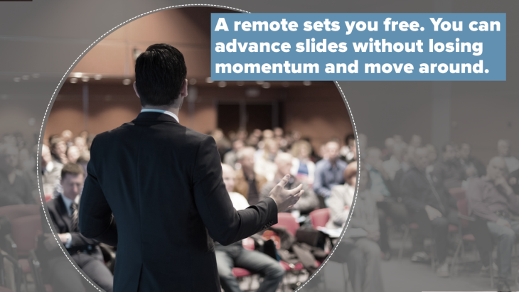 A presentation remote will set you free!