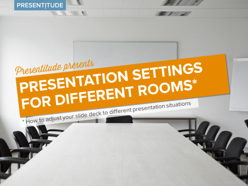 Presentation settings for different rooms