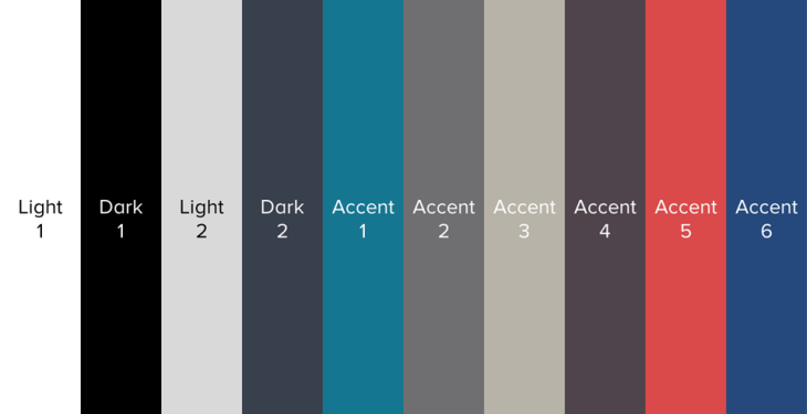 Ten PowerPoint Colors
