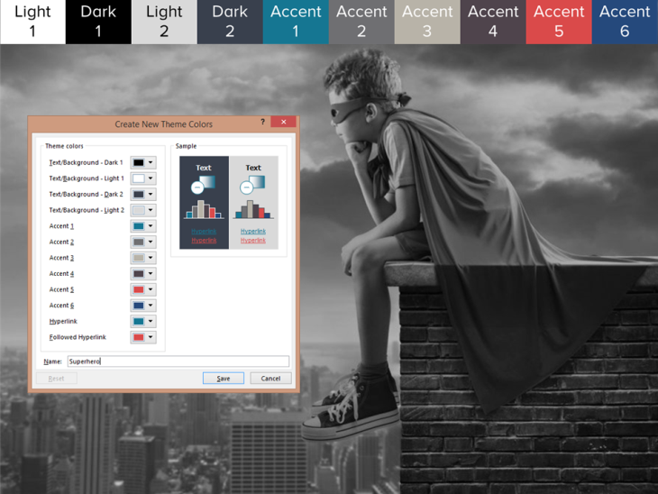 Create a PowerPoint color theme