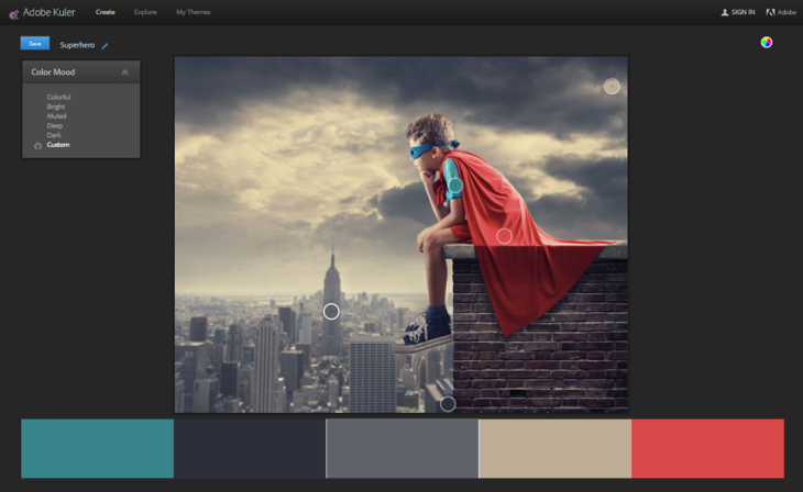 Use a website like Kuler to create colors