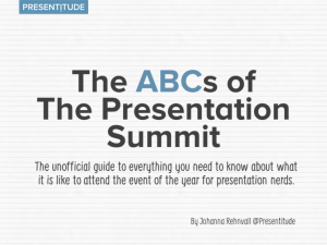 The ABCs of The Presentation Summit