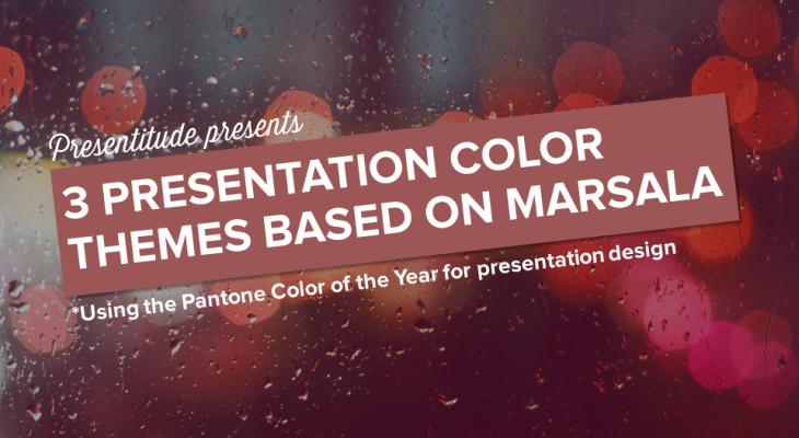 3 presentation color themes based on Marsala