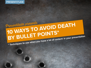 What to do with bullet points?
