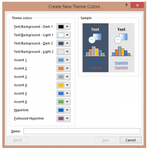 How to add and save a custom PowerPoint color theme