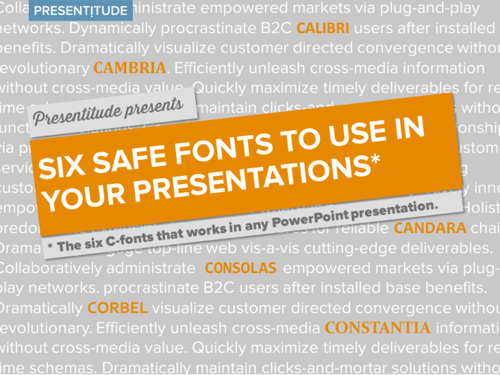 six safe fonts to use in your next presentation presentitude