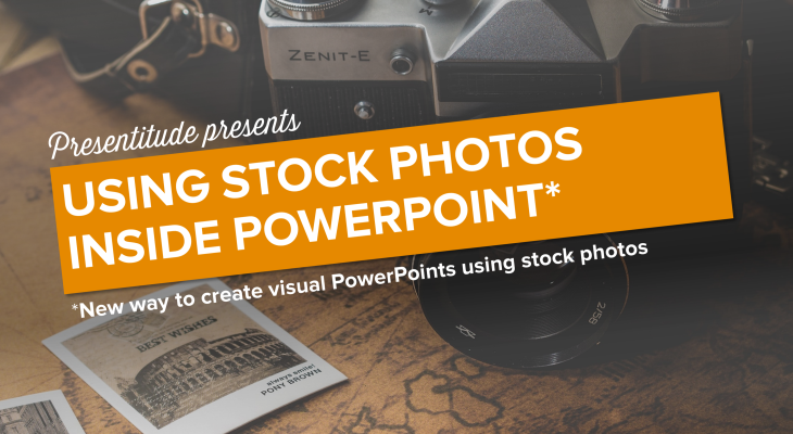 New way to create visual PowerPoints using stock photos