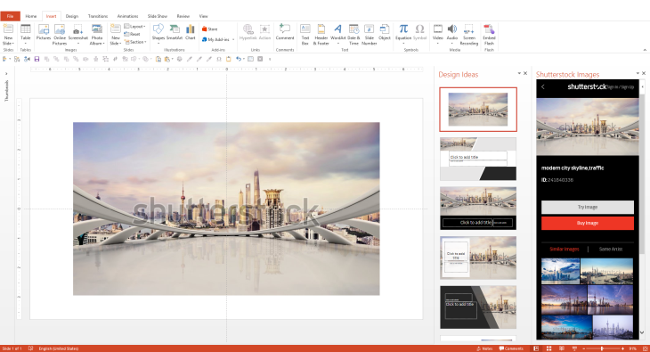 Shutterstock Add-in for PowerPoint